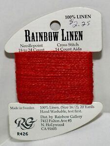 Rainbow Gallery Rainbow Linen 16/2 20 yards linen R426 red