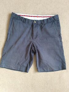 "Mens 32"" Waist Navy Blue Chino Style Shorts By Ben Sherman"