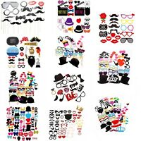 Adults Kids Photo Booth Props Party Supplies Funny Face Party Picture Selfie Kit