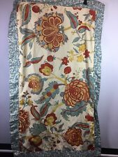 Martha Stewart Pillow Shams King Euro 4 Floral Red Blue Yellow Leaves Bedding