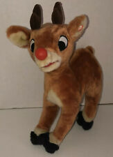 """15"""" Vintage Gemmy Rudolph The Red Nosed Reindeer Talking Singing Animated Plush"""