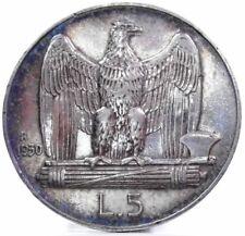 """Savoia-Vittorio Emanuele III (5 Lire """"Bordo largo"""") 1930"""
