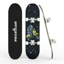 "New listing Pro 31"" Skateboards for Beginner Complete Skateboard 8 Layer Space Motor Deck"