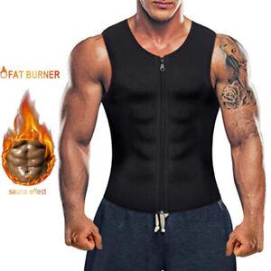 Men Neoprene Sauna Thermo Sweat Body Shaper Waist Trainer Fat Burner Corset Vest