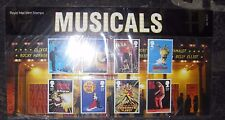 Royal Mail mint stamps. Musicals, 2011
