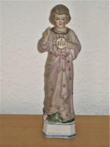 Alte Heiligenfigur / Jesukind / Jesu-Kind / Porzellanfigur