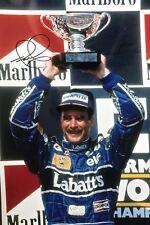 Nigel MANSELL Firmato a Mano podio 18x12 PHOTO F1 5.