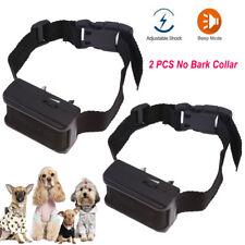 New listing 2Pcs Electric Anti Barking No Bark Small Medium Large Dog Tone Training Collar
