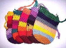 Guatemala Crochet Crystal Pouch Medicine Mojo Stash Bag 100% Cotton!