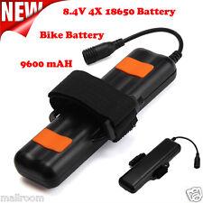 8.4V Rechargeable 9600mAh 4X18650 Battery Pack Fahrradlamp Scheinwerfer Akkupack