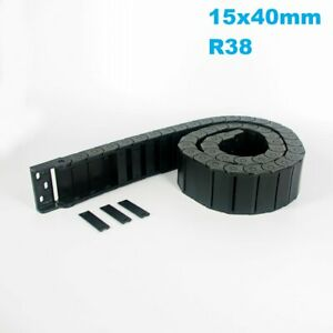 15x40mm R38 Nylon Energy Drag Chain Cable Wire Carrier CNC Router 3D Printer Mil