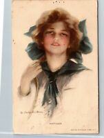 Vintage 1909 Lady Woman HAPPINESS by Philip Boileau Postcard