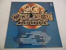 """20 GOLDEN NUMBER ONES . 12"""" 33rpm VINYL LP RECORD .Incl. WIZZARD , THE SCAFFOLD"""
