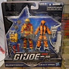 GI JOE ~ 2014 BLOWTORCH vs HEAT VIPER ~ HEATED BATTLE ~ COBRA MOC 50TH