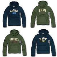 RapDom Military Navy Air Force Army Marines Fleece Pullover Hoodie Sweatshirt