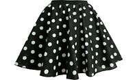 CHILDRENS PINK POLKA DOT 12 INCH SHORT 50s SKIRT & SCARF FANCY DRESS COSTUME