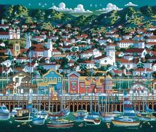 DOWDLE FOLK ART COLLECTORS JIGSAW PUZZLE SANTA BARBARA 500 PCS CALIFORNIA