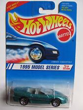 HOT WHEELS 1995 MODEL SERIES CAMARO CONV. GREEN ~WHEEL ERROR~