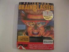 "Action Pak Brainblaster New Pc Game 5.25"" Disks Cinemaware Xenon 2 Bombuzal 1989"