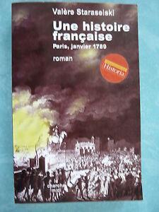 UNE HISTOIRE FRANCAISE - PARIS - JANVIER 1789