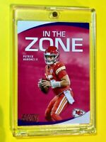 Patrick Mahomes PANINI SCORE IN THE ZONE INSERT CHIEFS 2020 CARD #IZ-PM - Mint!