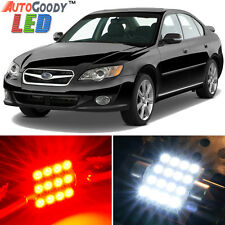 10 x Premium Red LED Lights Interior Package Kit for Subaru Legacy 2000-2009