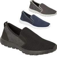 Mens Casual Shoes Textile Slip On Sports Gym Trainer Loafers UK  7 8 9 10 11 12