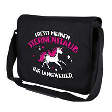 Fresst meinen Sternenstaub ihr Langweiler, Einhorn   Umhängetasche Messenger Bag
