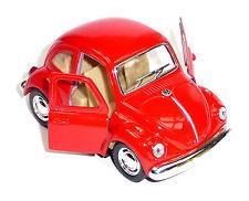 VW Käfer (1967) KINSFUN Modellauto Spritzguss ca.9,6cm in kräftigem rot KINSMART