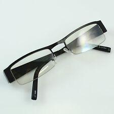 1028 Khan Clear Lens Glasses Rectangular Frame Mens Bronze Black Yellow Design