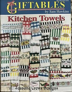 Jeanette Crews Design Giftables Kitchen Towels Cross Stitch Pattern Booklet Farm