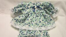 """Blue/Green Floral Print Dress/bloomers, fits 12"""" Corolle Tidoo dolls and others"""