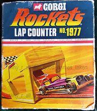 Mettoy Playcraft CORGI ROCKETS No. 1977 Race Track LAP COUNTER in Original BOX