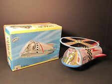 VINTAGE JAPANESE TIN OLD LITHO TOY MECHANICAL SPACESHIP NEAR MINT ORIGINAL BOX