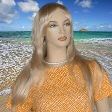 New Long Straight Blonde Wig Evening Fun Party JDSW67