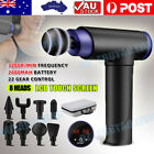 LCD 8 Heads POWERFUL Massage Gun Percussion Massager Muscle Therapy Deep Tissue