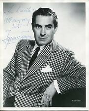 TYRONE POWER SWASHBUCKLER ACTOR SIGNED PHOTO AUTOGRAPH JSA AUTHENTICATED LETTER