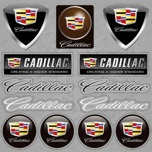 For Cadillac Logo Medal Sport Car Sticker 3D Decal Logo Stripe Decoration Gift
