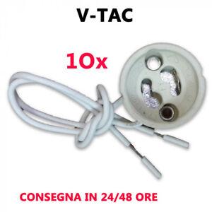 10 portalampada gu10 V-TAC da incasso in Ceramica per Faretto e Portafaretto