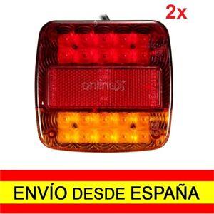 2x Luz LED Señalización Remolques Coches Camiones 12V EnvÍo 48/72H. 2x a0492
