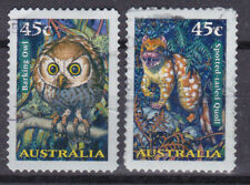AUSTRALIA 1997 Natura Nocturnal fauna Adhesive Yv 1621 to 1622 Used very fine
