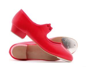 Girls Ladies Size 5 Low Heel Tap Dance Shoes By Katz Dancewear Brand New & Boxed