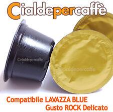 100 capsule cialde caffè compatibili LAVAZZA BLUE gusto ROCK DELICATO