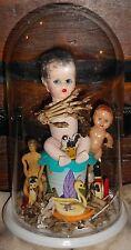 OOAK Horror Art Two Faced Doll Diorama Real Bones Freak Show Edward Mordrake Odd