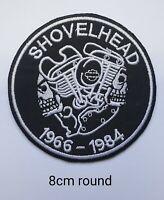 SHOVELHEAD Round Australia Harley Davidson Vest Iron Sew On Biker