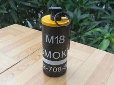 2 in 1 Dummy M18 Smoke Grenade Shape Cigarette Case Windproof Lighter Toys Yello