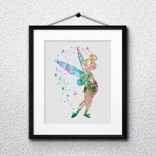 Tinker Bell Peter Pan Disney Print Printable Wall Decor painting - DIGITAL file