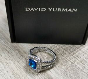 David Yurman Cable Gem Ring, Valentine's Day Ring, Authentic! 7 ring