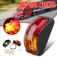 LED Clearance Lamp Side Marker Light Red Amber Truck Trailer Boat 10-30V E4