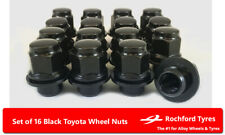 Black OE Style Wheel Nuts 16 12x1.5 Nuts For Toyota Corolla Verso Mk2 01-04
